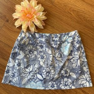 Athleta Tennis Activewear Skort White Floral M